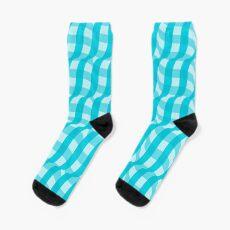3d illusion tablecloth pattern Sock
