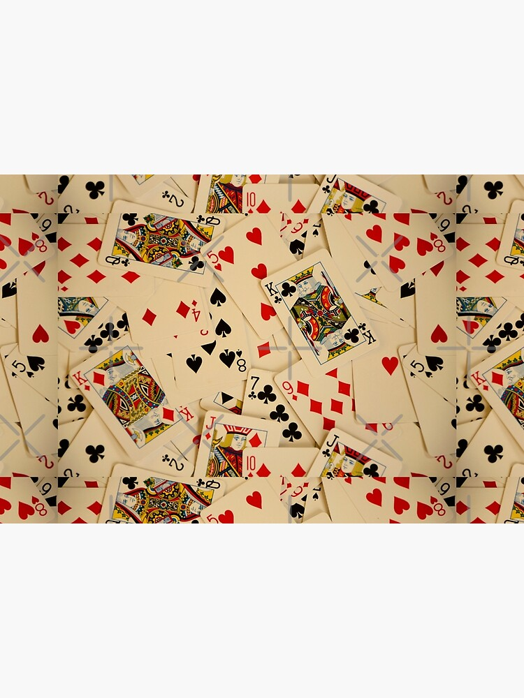 Scattered Pack of Playing Cards Hearts Clubs Diamonds Spades Pattern by HotHibiscus