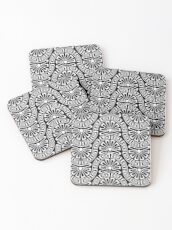 modernized greek seamless pattern Coasters
