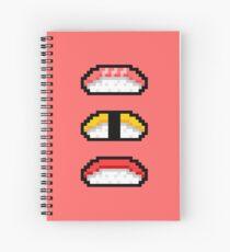 Pixel Nigiri Sushi Spiral Notebook