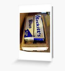 Reckitt's Blue  ~  Blousel Greeting Card