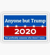 Anyone but Trump 2020 Transparent Sticker