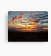 Once upon a Sunset  Canvas Print