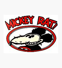 Mickey Rat Photographic Print
