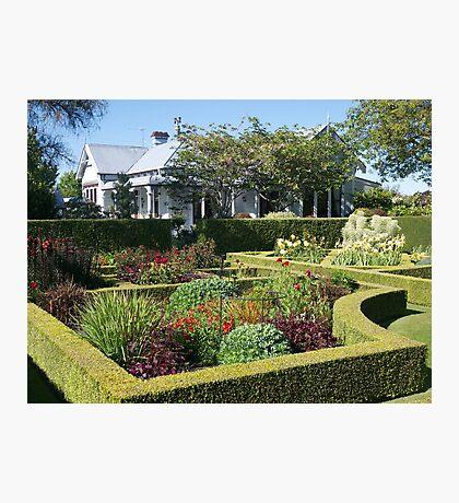 Upton Oaks, Garden, Blenheim,NZ. Photographic Print