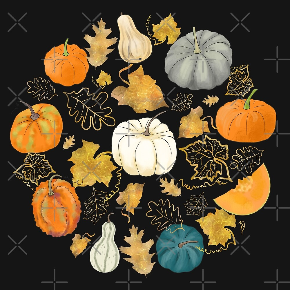 Harvest of the Golden Season - Halloween Pumpkins by Andreea Dumez