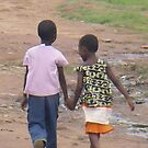 African Children taking a Stroll by Caroline Pugh