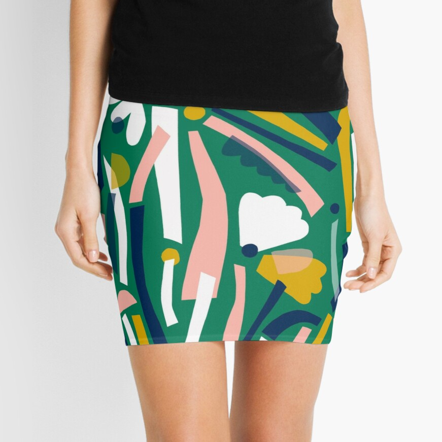Flowerbed II Mini Skirt