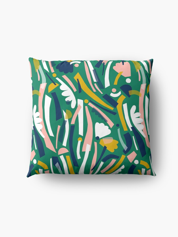 Alternate view of Flowerbed II Floor Pillow