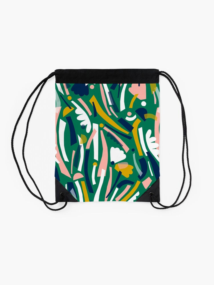 Alternate view of Flowerbed II Drawstring Bag