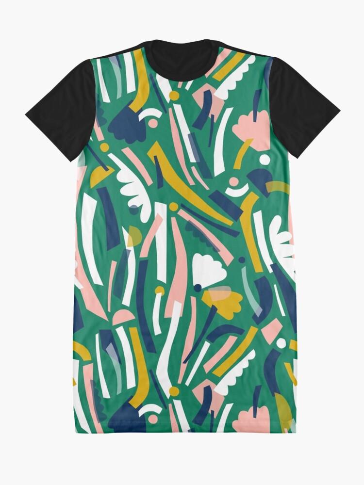 Alternate view of Flowerbed II Graphic T-Shirt Dress