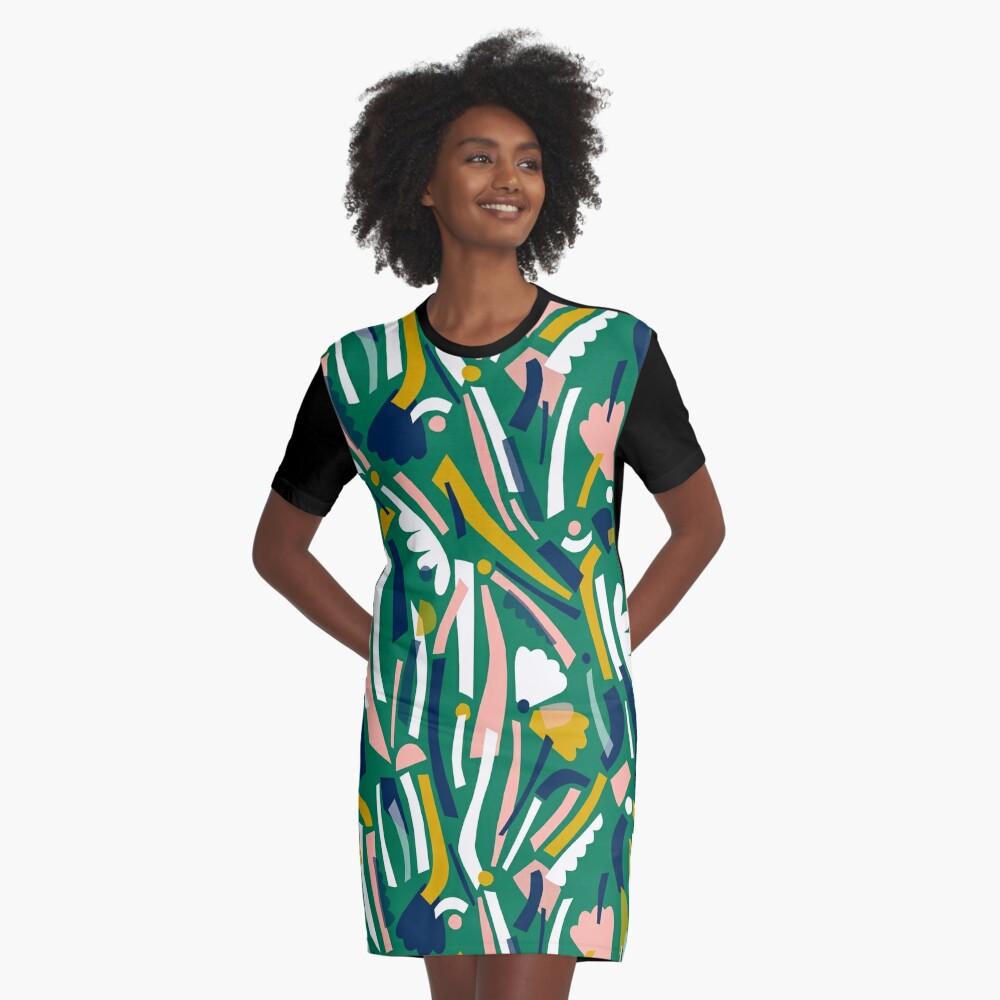 Flowerbed II Graphic T-Shirt Dress
