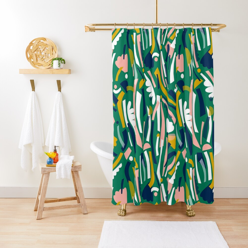 Flowerbed II Shower Curtain
