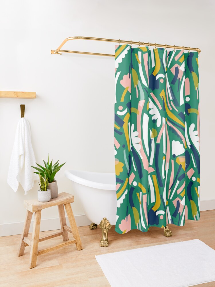 Alternate view of Flowerbed II Shower Curtain