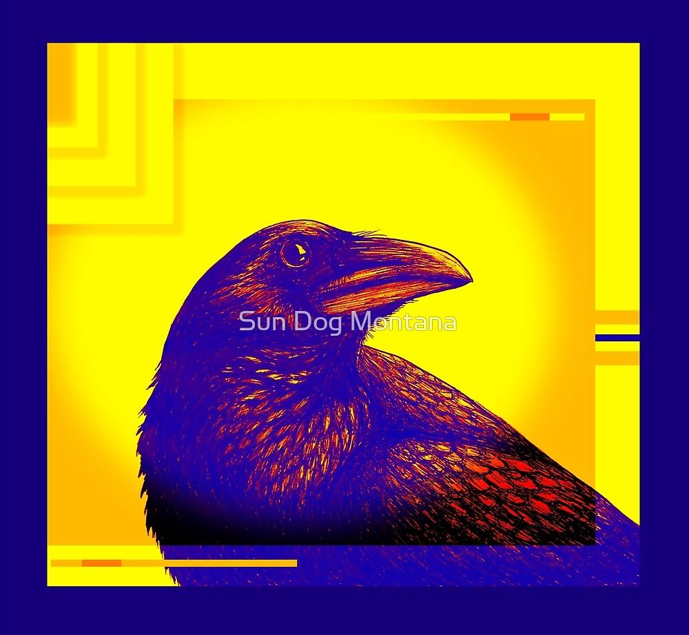 Art Deco Crow by Sun Dog Montana