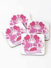 Spinel Steven Universe - Tag you're it Coasters