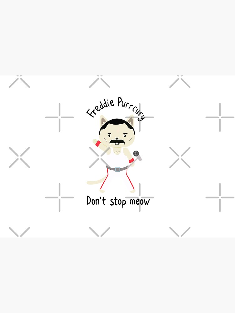 Don't Stop Meow!  Cute Freddie Cat - THE ORIGINAL - HIGH QUALITY PRINT by pickledjo
