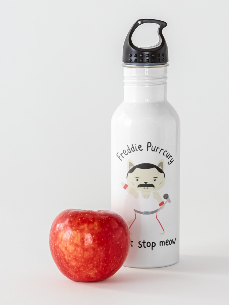 Alternate view of Don't Stop Meow!  Cute Freddie Cat - THE ORIGINAL - HIGH QUALITY PRINT Water Bottle
