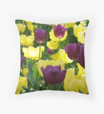 Tulips, Pittsburgh in Spring Throw Pillow