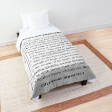 The man in the arena, Theodore Roosevelt, Daring Greatly, Quote Comforter