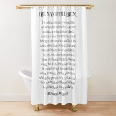 The man in the arena, Theodore Roosevelt, Daring Greatly, Quote Shower Curtain