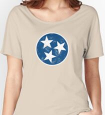 Tennessee State Flag T-shirt Women's Relaxed Fit T-Shirt
