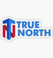 True North Transparent Sticker