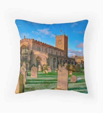 St Oswald's Church - Asgrigg  (HDR) Throw Pillow