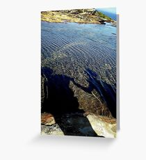 By the rockpool .. Greeting Card