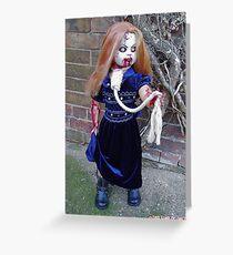 Bethina custom zombie doll. Greeting Card