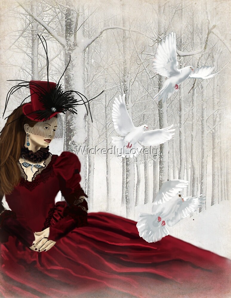 Woman in Red by WickedlyLovely