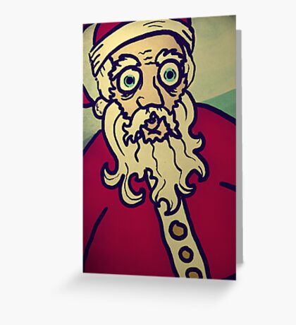 Mad Santa  Greeting Card