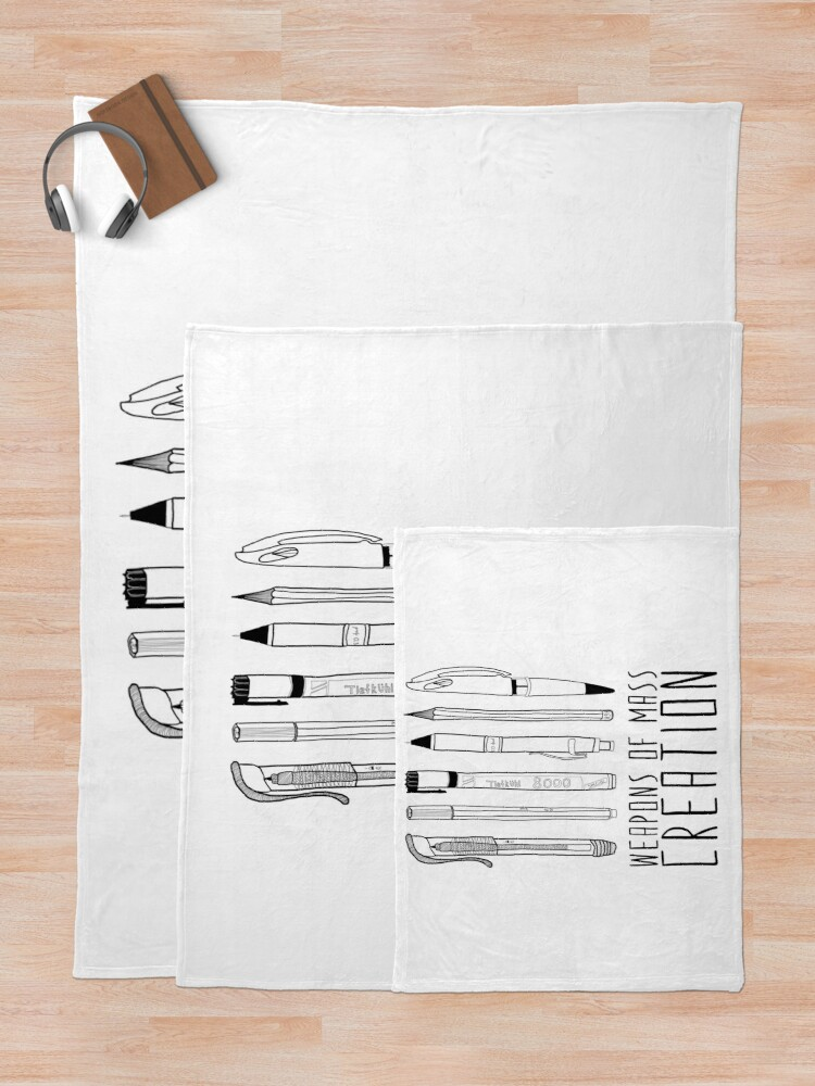 Alternate view of Weapons Of Mass Creation Throw Blanket