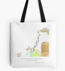 Mice Illustration Tote Bag