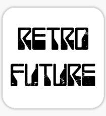 RetroFuture-Logo2-White Sticker