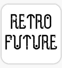 RetroFuture-Logo3-White Sticker