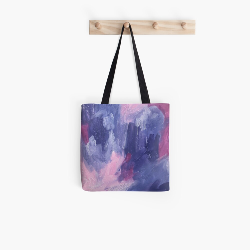"""""""Anticipation"""" original abstract painting by Sandra Vincent Tote Bag"""
