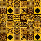 Black & Yellow Traditional Oriental Moroccan Style Artwork by Arteresting