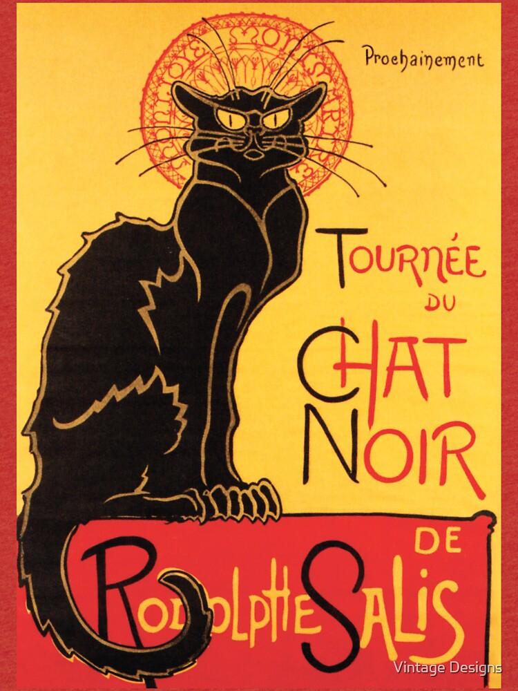 Le Chat Noir Weinlese-Plakat von Geekimpact
