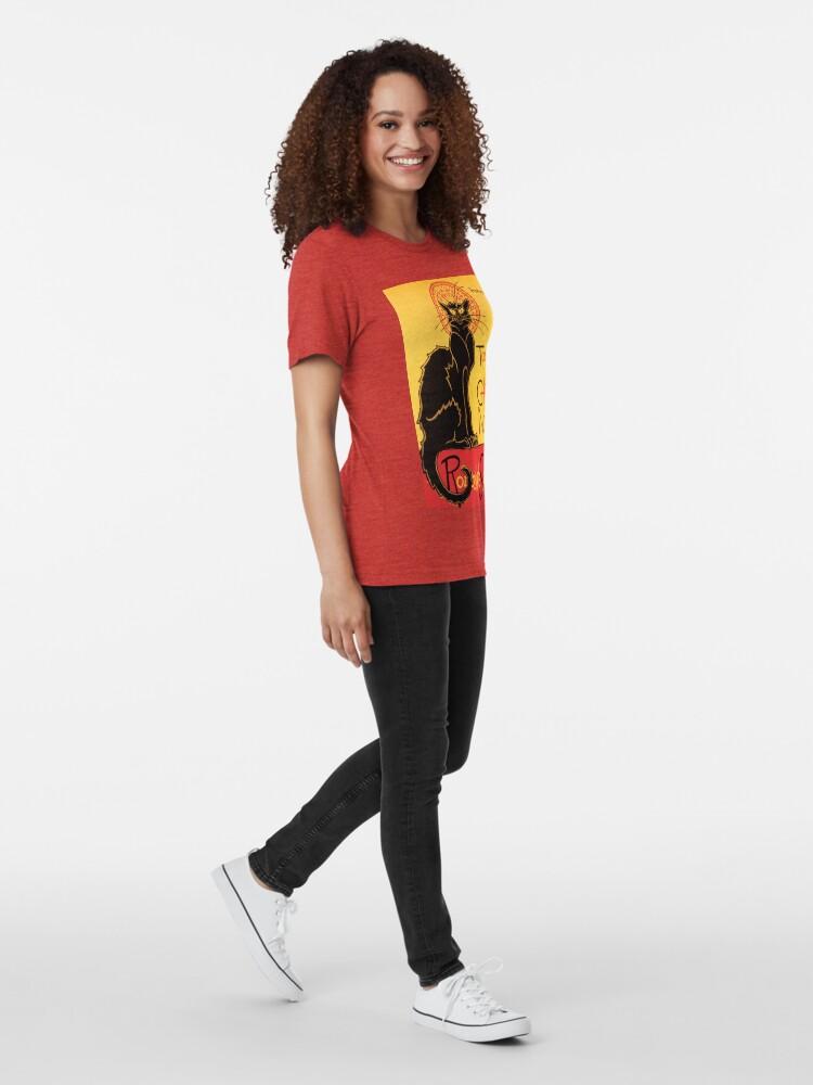 Alternative Ansicht von Le Chat Noir Weinlese-Plakat Vintage T-Shirt