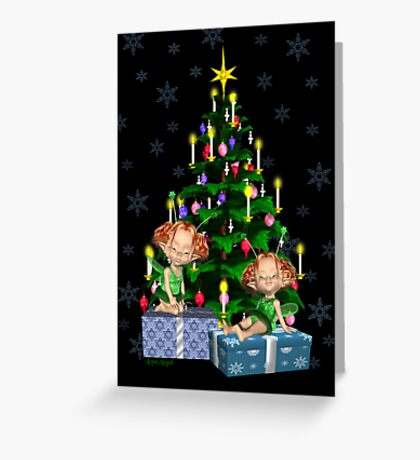 Christmas Fairies Greeting Card