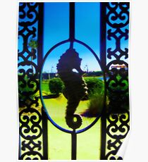 Seahorse Sillouette Poster