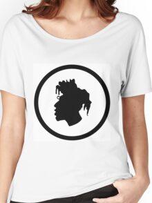 Black Head Logo Women's Relaxed Fit T-Shirt