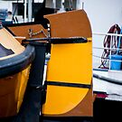 Yellow Houseboat Rudder by phil decocco