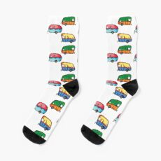 colorful retro campers Socks