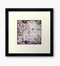 Blood stained baroque - gothic print Framed Print