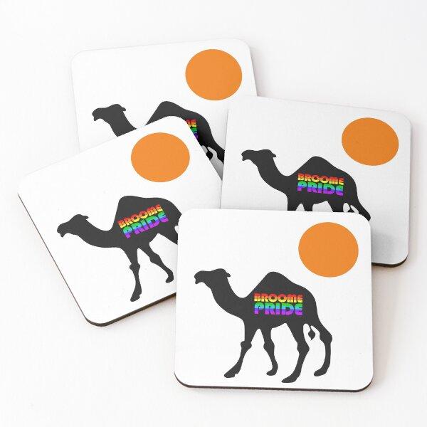 Broome Pride Safari - Black Camel Coasters (Set of 4)