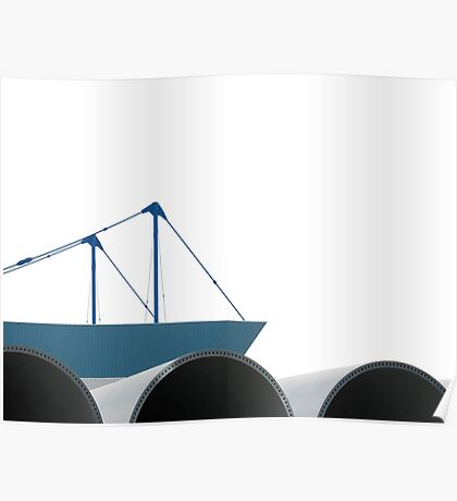 ship on waves  Poster