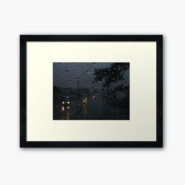 Random Rain Framed Art Print