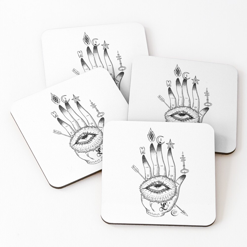 Hand of Mysteries  Coasters (Set of 4)